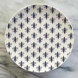 Sur La Table fleur de lis salad plate